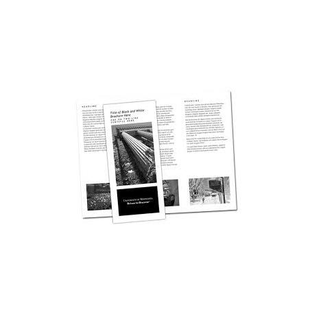 Flyer copyshop gevouwen