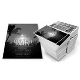 Flyer zwart/wit geboord